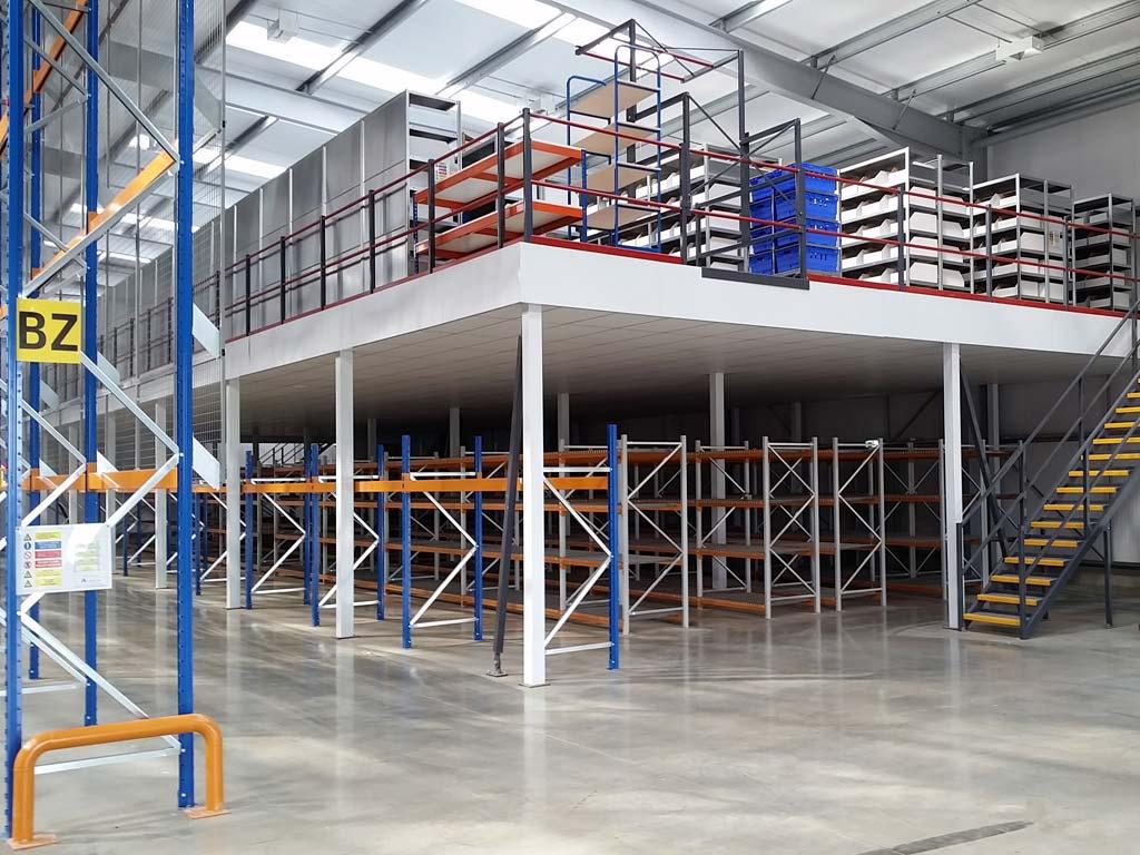 Storage mezzanine flooring | make full use of the height of your warehouse with mezzanine StoreFloor TM - Fayco