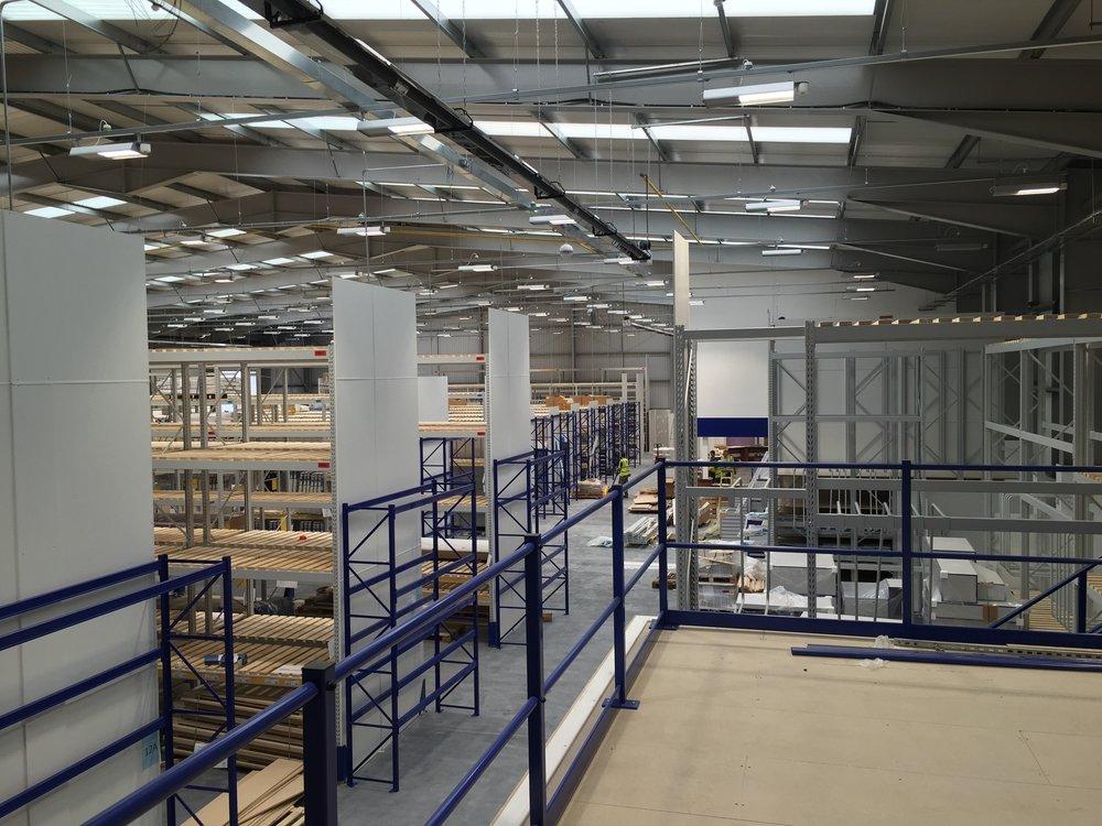 Warehouse mezzanine flooring