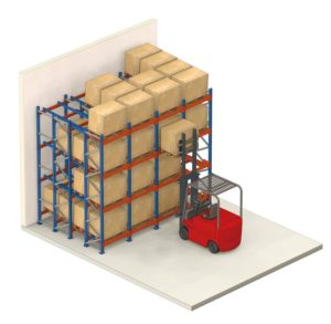 push back pallet racking | push back racking