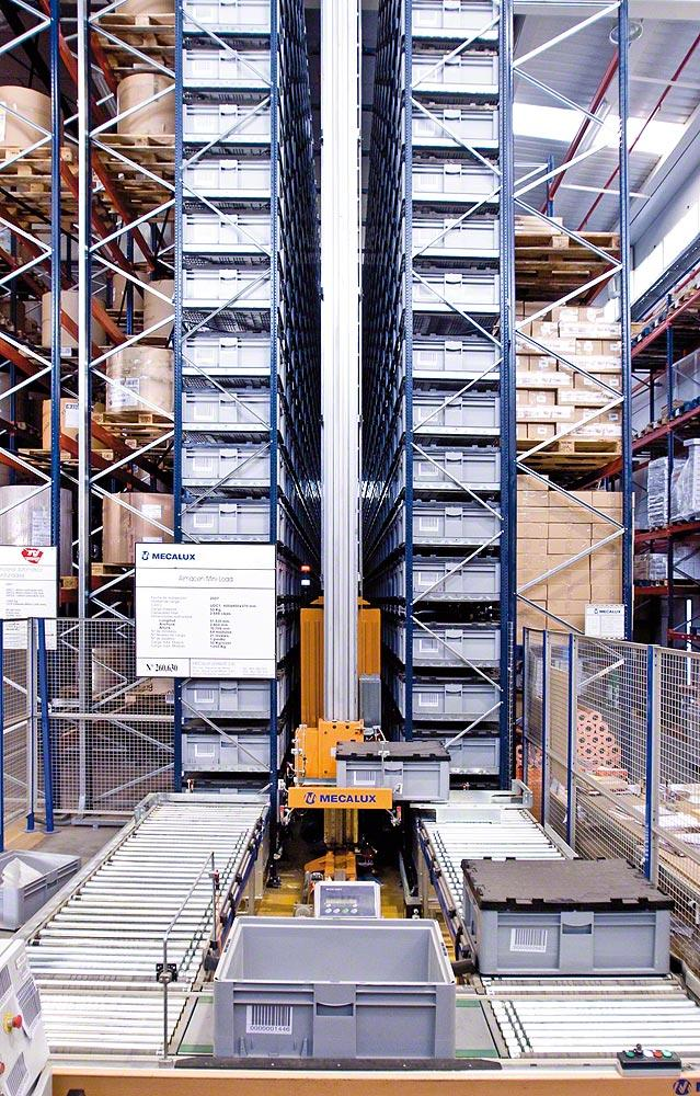 production mezzanine floor | box conveyor systems for mezzanine floors