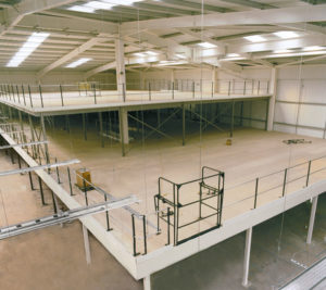 mezzanine flooring | mezzanine floors for office, retail, storage, factory floor