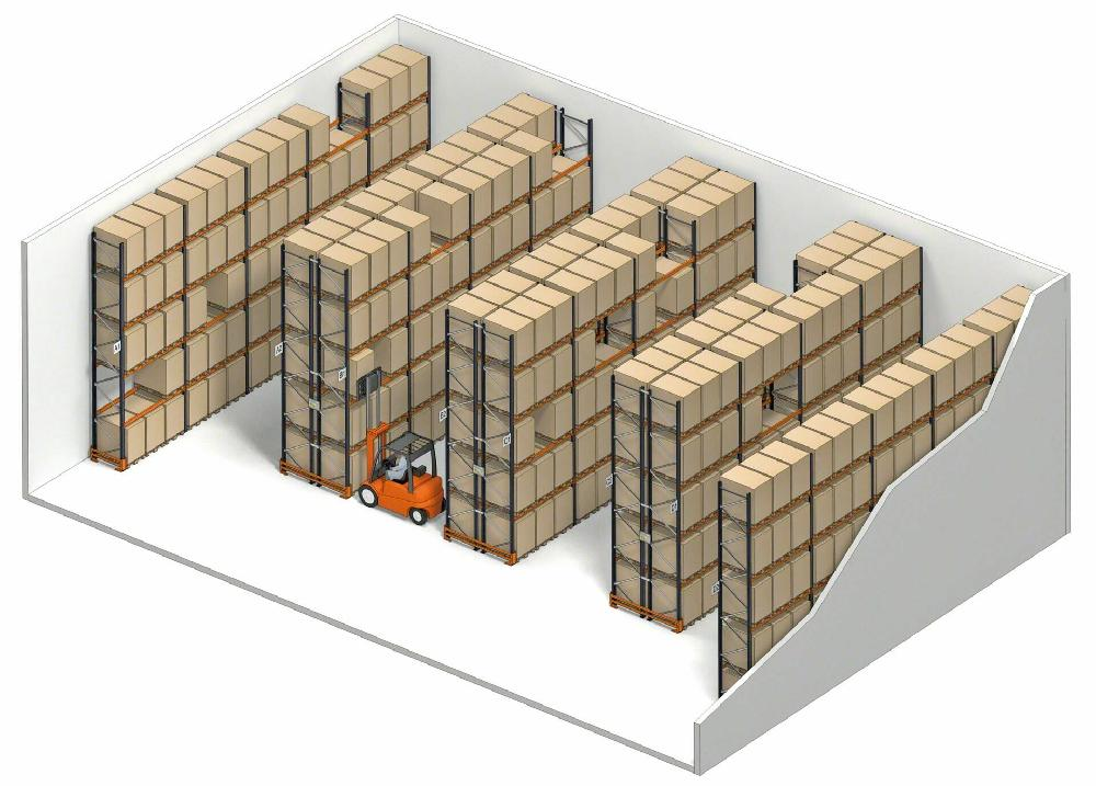 Racking for Direct and single access to pallets