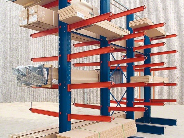 cantilever racking second hand | storage systems for long off sized product storage