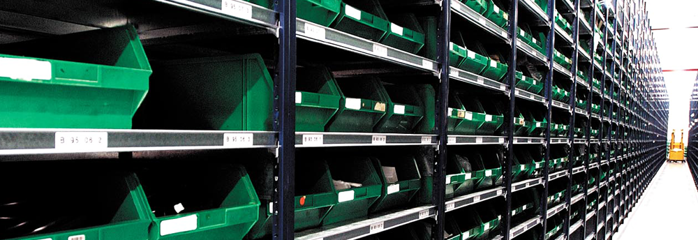 Simplos shelving system - ideal for pick and pack, parts bins, component storage.