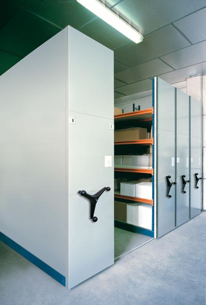 Movibloc document archive shelving | mobile shelving manufacturers | movable archive shelving - Fayco Engineering authorized Mecalux suppliers and installers Ireland
