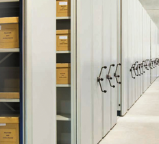 Movibloc document archive shelving | movable archive shelving | library shelving systems | Movibloc by Mecalux