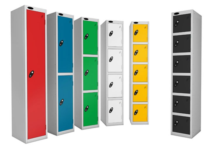 Personal storage system lockers for sale suitable for commercial and public environments. Ideal staff lockers, workplace lockers, office lockers, school & college lockers.